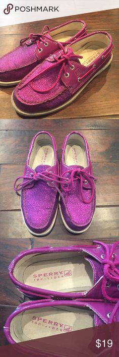 Sperry Top-Sider Purple glitter shoes They still are in great shape! Used! Very rare find!! Sperry Top-Sider Shoes Flats & Loafers