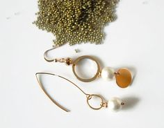 Asymmetrical earrings mismatched earrings by UneDemiLune on Etsy