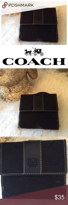 Coach Wallet in Black Beautiful small coach wallet in black contains eight credit card slots stitched inside. Coach Other