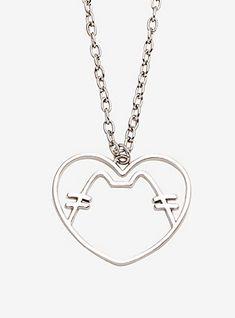 Pusheen Heart Pendant Necklace,