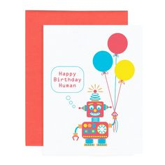 ROBOT HAPPY BIRTHDAY greeting card