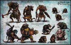 Warhammer 40000,warhammer40000, warhammer40k, warhammer 40k, ваха, сорокотысячник,Wh Песочница,фэндомы,Rat-men,Mutant,удалённое