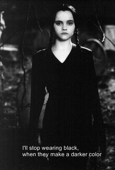 Wednesday Addams (Christina Ricci) - best Wednesday Addams everr! lol Humour, El Humor, Humor Quotes, Goth Humor, Goth Quotes, Wednesday Addams, Happy Wednesday, Happy Friday, My Mood