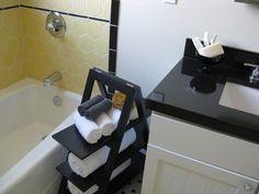 For mals bathroom. ladder for bathroom storage/shelving