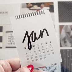 Freebie   Monthly Cards // Caylee Grey