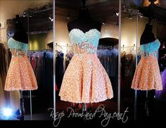 100SH0111010350 AQUA/PEACH HOMECOMING DRESS Wow! This Short Dress features Aqua/Peach Ombre Lace. Fine boning gives the illusion of a corset which ends into the flared skirt. Gorgeous and ONLY at Rsvp Prom and Pageant in Lawrenceville, Georgia. Come and Try it on or Buy it TODAY at http://rsvppromandpageant.net/collections/short-dresses/products/100sh0111010350-aqua-peach-homecoming-dress