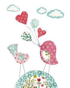 Nursery art print Nursery decor baby girl by MuddyPuddlePrints