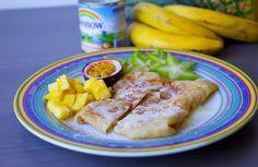 Roti- Thailändska pannkakor Pancakes And Waffles, Nutella, Shrimp, French Toast, Sweets, Chicken, Meat, Breakfast, Desserts