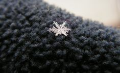 Snowflake | Flickr  Beautiful capture of a snowflake on wool