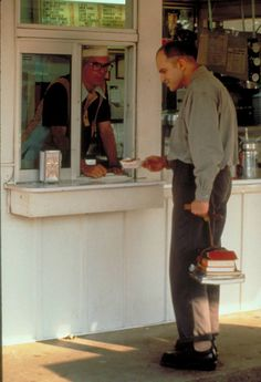 Billy Bob Thornton as Karl Childers ordering 'French fried potaters' in Sling Blade Movie Tv, Blade, Bob, Uh Huh, French, Halloween Ideas, Films, Music, Funny