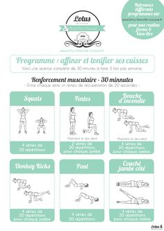 Program to refine the thighs - Lotus & Mouth stitched Source by carineboncoin Training Fitness, Cardio Training, Circuit Fitness, Fitness Tattoo, Fitness Home, Fitness Wear, Yoga Fitness, Intensives Training, Sport Body