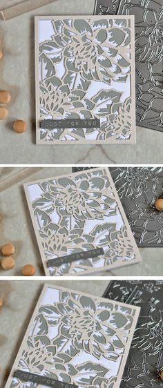 Altenew Layered Floral Cover Dies. Card by @craftwalks