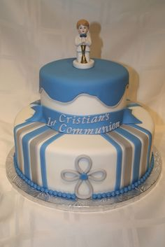 First Communion -Boy By all_for_my_baby on CakeCentral.com