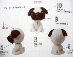 9784579113248 felt dogs made of wool japanese craft book