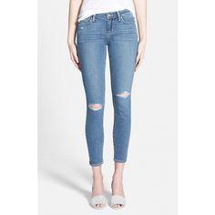 Paige Denim 'Transcend - Verdugo' Ultra Skinny Ankle Jeans ($133) ❤ liked on Polyvore