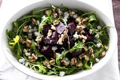 Roasted Beet Salad with Walnuts & Blue Cheese | girlgonegourmet.com