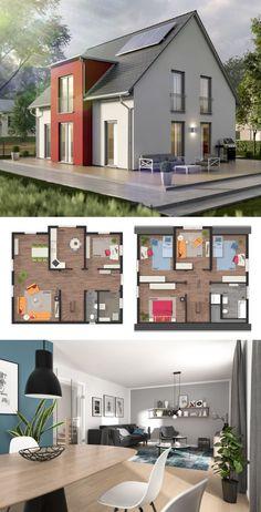 modernes einfamilienhaus mit flachdach architektur galerie fertighaus bauen ideen design. Black Bedroom Furniture Sets. Home Design Ideas