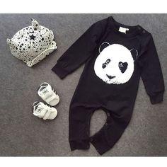 Newborn Baby Boy Girl Panda Long Sleeve Romper Jumpsuit Bodysuit Clothes Outfits #Unbranded #DressyEverydayHoliday