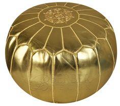 gold / black pouf metallic pillows | Top » Catalog » Moroccan Poufs » BDGOL333