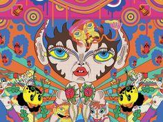 Super Furry Animals Album Cover Art by Keiichi Tanaami & Pete Fowler