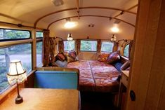 Madeover Maine Bus is a Groovy Guest Home on Wheels