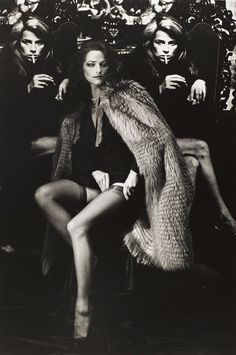 Charlotte Rampling photographed by Helmut Newton, 1982.