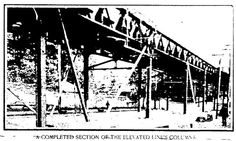 The Market-Frankford el under construction, 1905.  This is around 42nd Street in West Philadelphia.  From The Philadelphia Press; Tuesday, October 24th, 1905.
