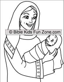 the widows mite coloring page for children The Widows Offering