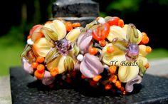 Victorias Secret Garden Handmade Lampwork Glass Bead by TLBeads, $16.00