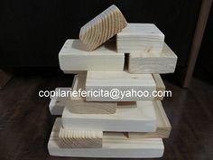 DIY wooden blocks for kids Wooden Blocks For Kids, Kids Blocks, Wood Toys, Wooden Diy, Dishes, Wooden Toy Plans, Plate, Tablewares, Tableware