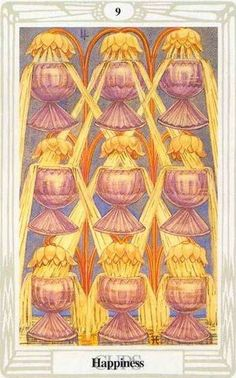 nine of cups - thoth tarot
