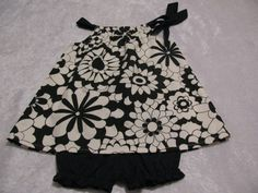 black and creamy white flower pillowcase by Susieq'scupcakeboutique