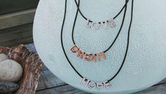 Bands and Bling Love Dream Hope Layered Necklaces