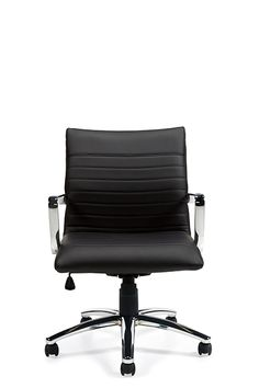 Stylish white ribbed back conference room chair from Offices To Go