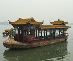 Beijing, China: Summer Palace Boat on Lake Kunming Places To Travel, Places To See, Summer Palace Beijing, Asian Architecture, Ancient Architecture, China Travel, China Trip, Ancient China, Ancient Greek