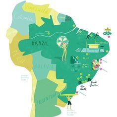 Brasil Map #brasil #map #rio #mapmakers #illustratedmaos #cartography #minasgerais #theydrawandtravel
