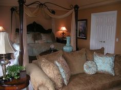 Regal Style Master Bedroom and Sitting Area traditional bedroom