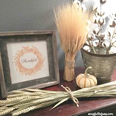 Thankful, Gather and Blessed Free Printables. Perfect for your Fall and or Thanksgiving Decor.