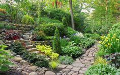 The Garden Conservancy Open Days Tour - Traditional Home® The Edeiken Goldfinger Garden in New Rochelle, NY