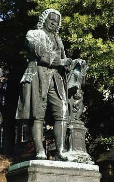 Statue of Johann Sebastian Bach in the city of his birth Eisenach, GERMANY.
