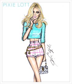 Hayden Williams Fashion Illustrations | Pixie Lott by Hayden Williams