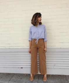 The wide leg pants we're seeing everywhere.