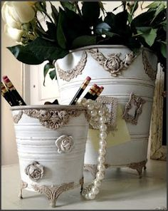 .Maybe make from old tins, or recycle new ones with bits of  odd sewing trims also.