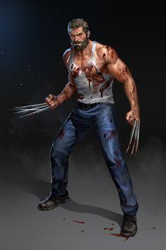 Logan/Weapon-X/'Wolverine'. Wolverine Movie, Wolverine Art, Logan Wolverine, Marvel Comics Art, Marvel Heroes, Marvel Fight, Logo Foto, Marvel Universe, Wolverine Comics