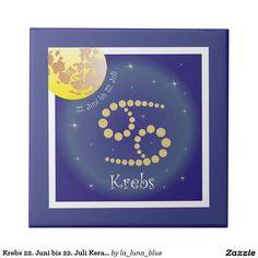 Krebs 22. Juni bis 22. Juli Keramik Fotofliese Kleine Quadratische Fliese Libra, Juni, Zodiac, 24 September, Cards, La Luna, Photos, January 20, Capricorn