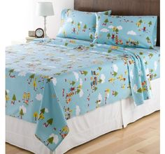 Home Classics Full Size Heavyweight 5 oz (170-gram) 4 Piece Flannel Sheet Set with Deep Pockets, Scout
