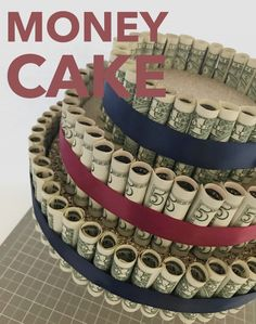 LBE Money Cake Money Birthday Cake, Money Cake, Money Lei, 80th Birthday, Graduation Party Themes, Graduation Party Decor, Graduation Cake, Grad Parties, Graduation Ideas