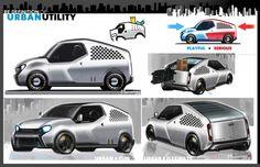 Toyota U2 Urban Utility Concept - Design Sketches