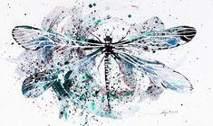 Синяя стрекоза удачи. Автор: Norvile Dovidonyte.