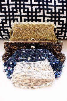 Sequined clutches? Yes, please!